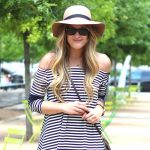 Striped Dress and a Summer Hat