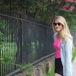Neon Pink and Chambray