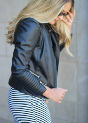 Affordable Faux Leather Jacket for Fall
