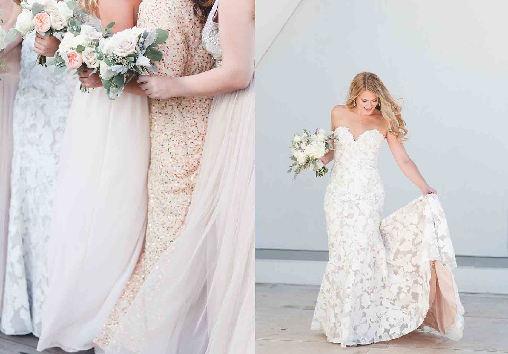 Renaissance Dallas hotel wedding -- Renaissance Dallas hotel rooftop -- wedding at renaissance dallas hotel -- fashion blogger cameron proffitt has romantic dallas rooftop wedding with mixed bridesmaids dresses and neutral color palette