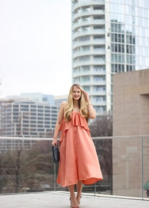Traffic-Stopping Coral Dress
