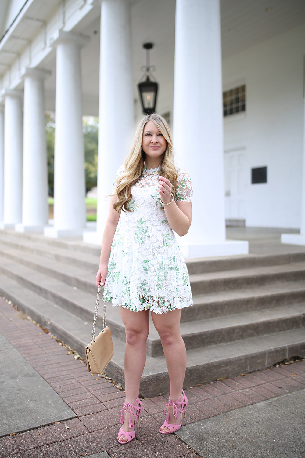 Dallas-fashion-blogger-Cameron-Proffitt-wears-dress-with-white-lace-overlay----chicwish-white-lace-dress----affordable-spring-outfit-6 - Springtime in Dallas