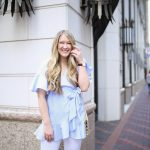Topshop Wrap Top with Ruffled Edges