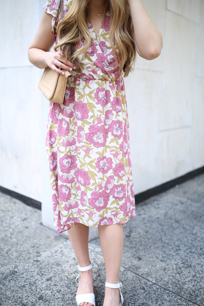 Dallas fashion blogger Cameron Proffitt wears floral spring dress Easter Sunday dress what to wear on easter