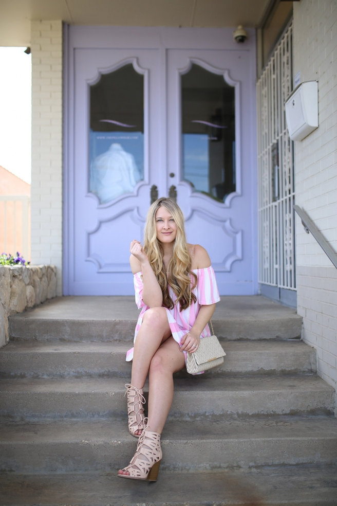 Dallas fashion blogger Cameron Proffitt wears Asos Adorable Summer Dress for Less than 30_pink and white striped sundress_affordable summer dress