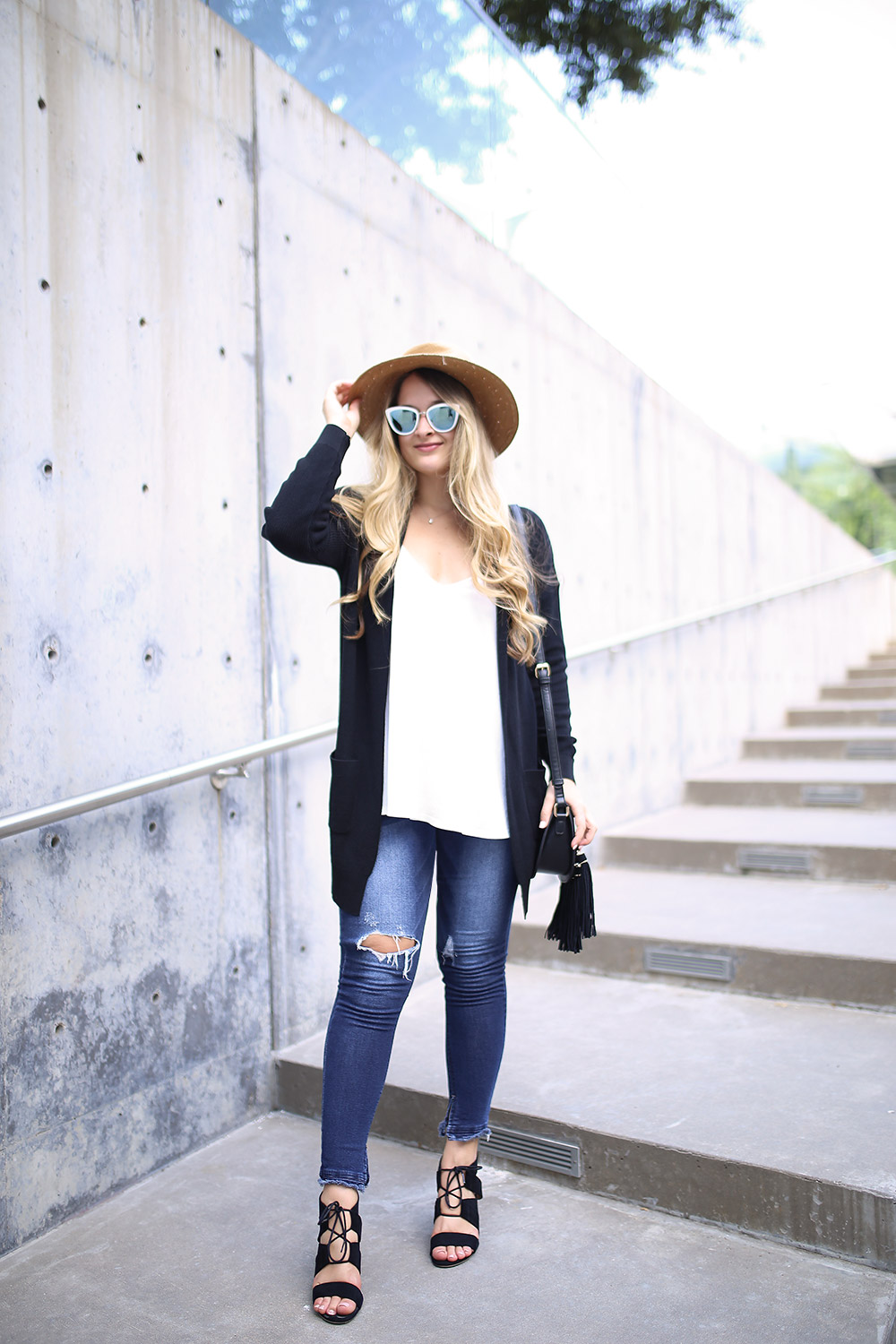 Affordable black cardigan for cool summer day _ Nordstrom sale black cardigan for fall _ Cozy black cardigan