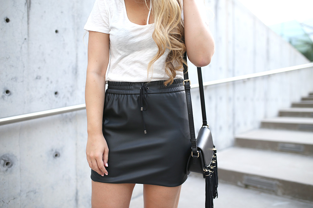 Must-Have Faux-Leather Mini Skirt -- faux leather mini skirt -- affordable leather mini skirt -- edgy skirt for summer -- leather mini skirt -- faux leather skirt