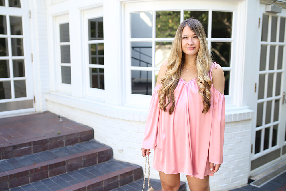 Feminine Pink Mini Dress for Date Night