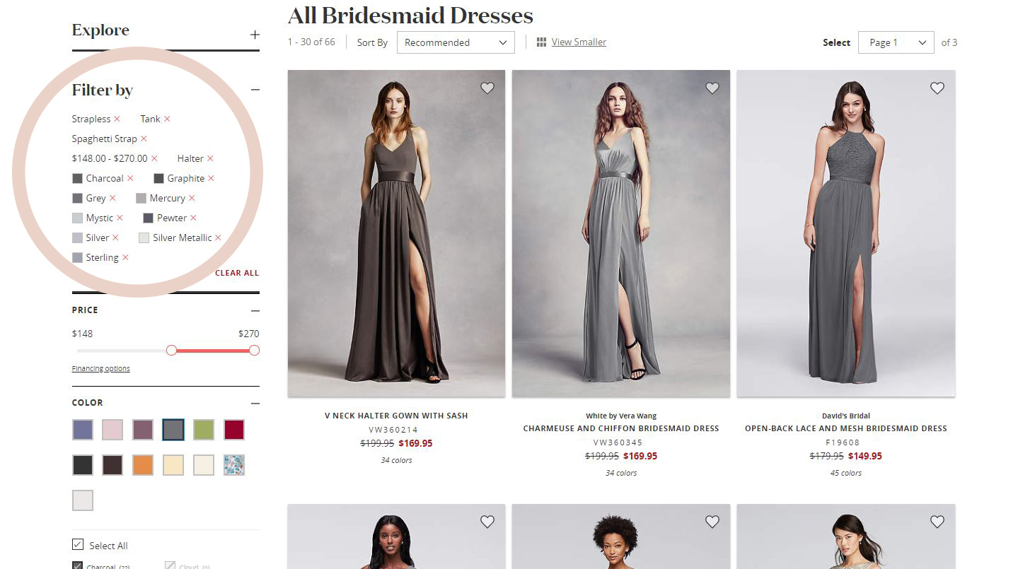 Here's a roundup of David's Bridal mix and match bridesmaids dresses that will work perfectly for your upcoming wedding, as well as tips on how to find the perfect color palette and style options for your bridal party.