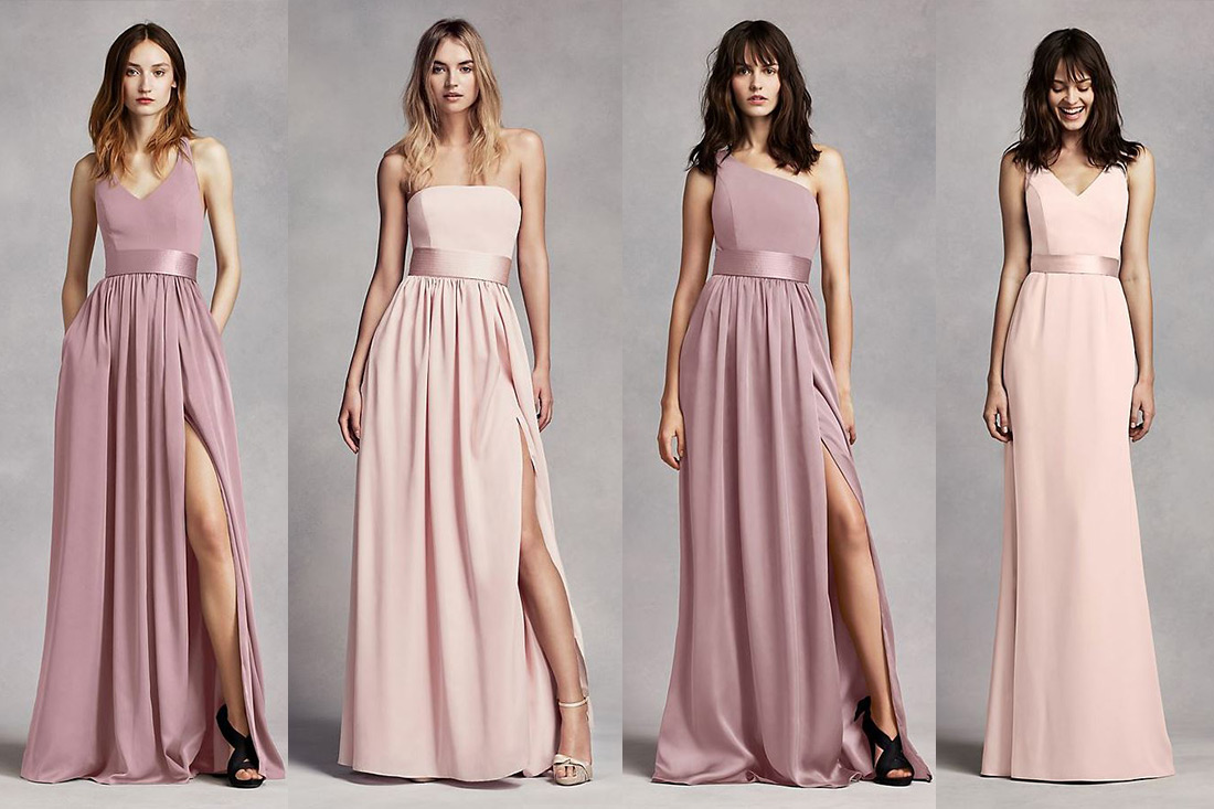 David's Bridal Mix and Match Bridesmaids Dresses