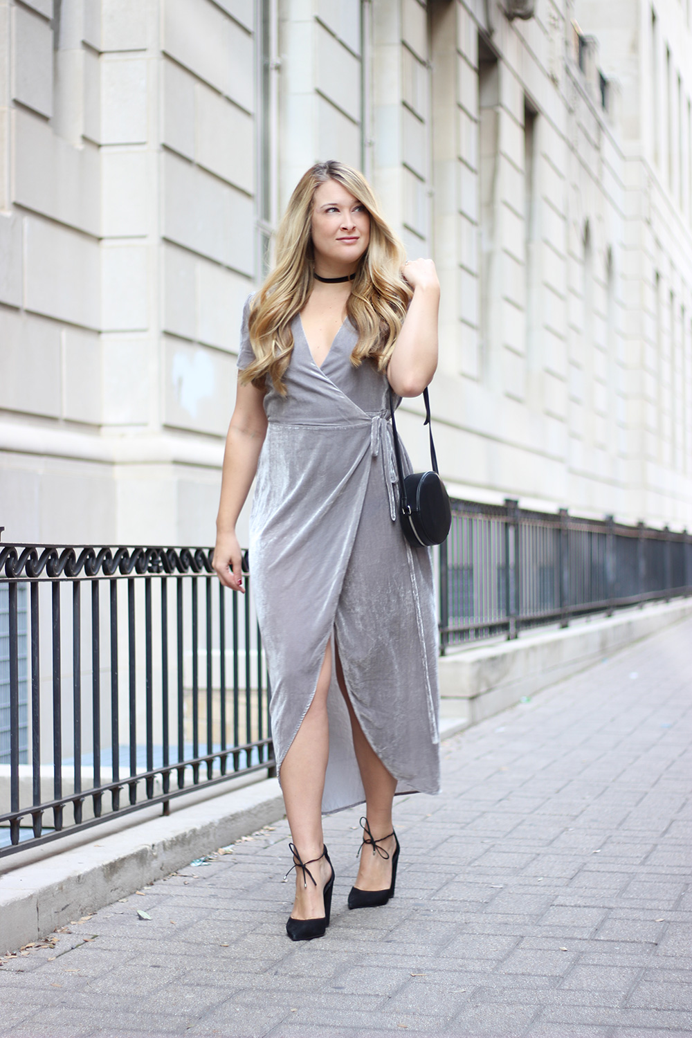 Velvet Wrap Dress Cameron Proffitt