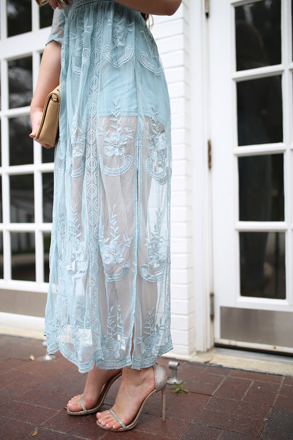 Romper Maxi With Lace Overlay Cameron Proffitt