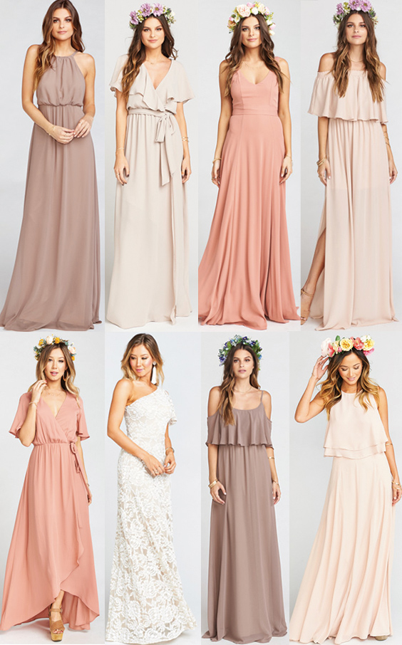 b90ef27f956 Searching for where to shop for mix and match bridesmaids dresses online   I ve