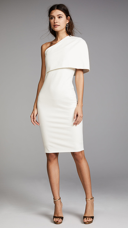 Where To Find A White Rehearsal Dinner Dress In Winter Cameron