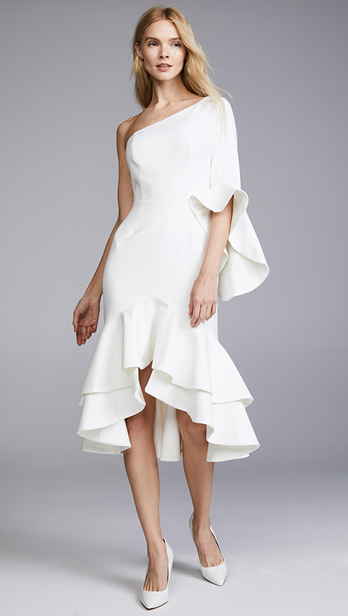 Where To Find A White Rehearsal Dinner Dress In Winter
