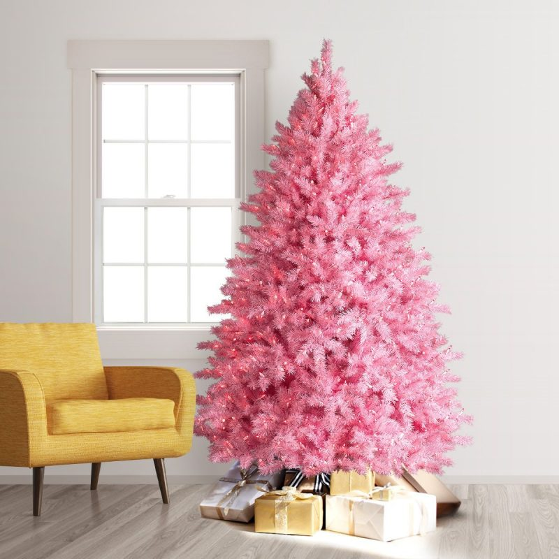 Pretty Pink Pre Lit Christmas Tree