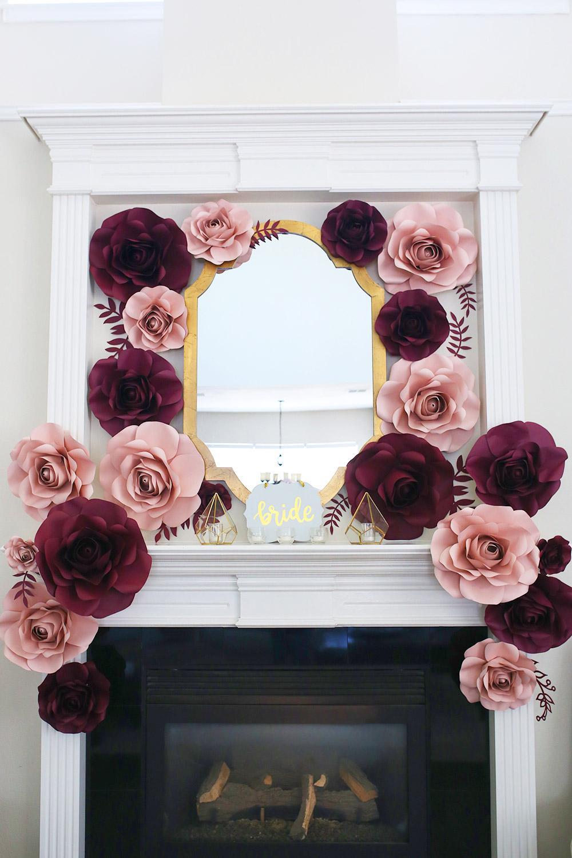 cb03f8dae89f Stunning paper flower backdrop for weddings