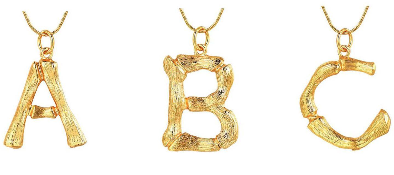 83f0a389d3b2c BEST Céline Alphabet Necklace Dupes on Amazon | Bamboo Necklace