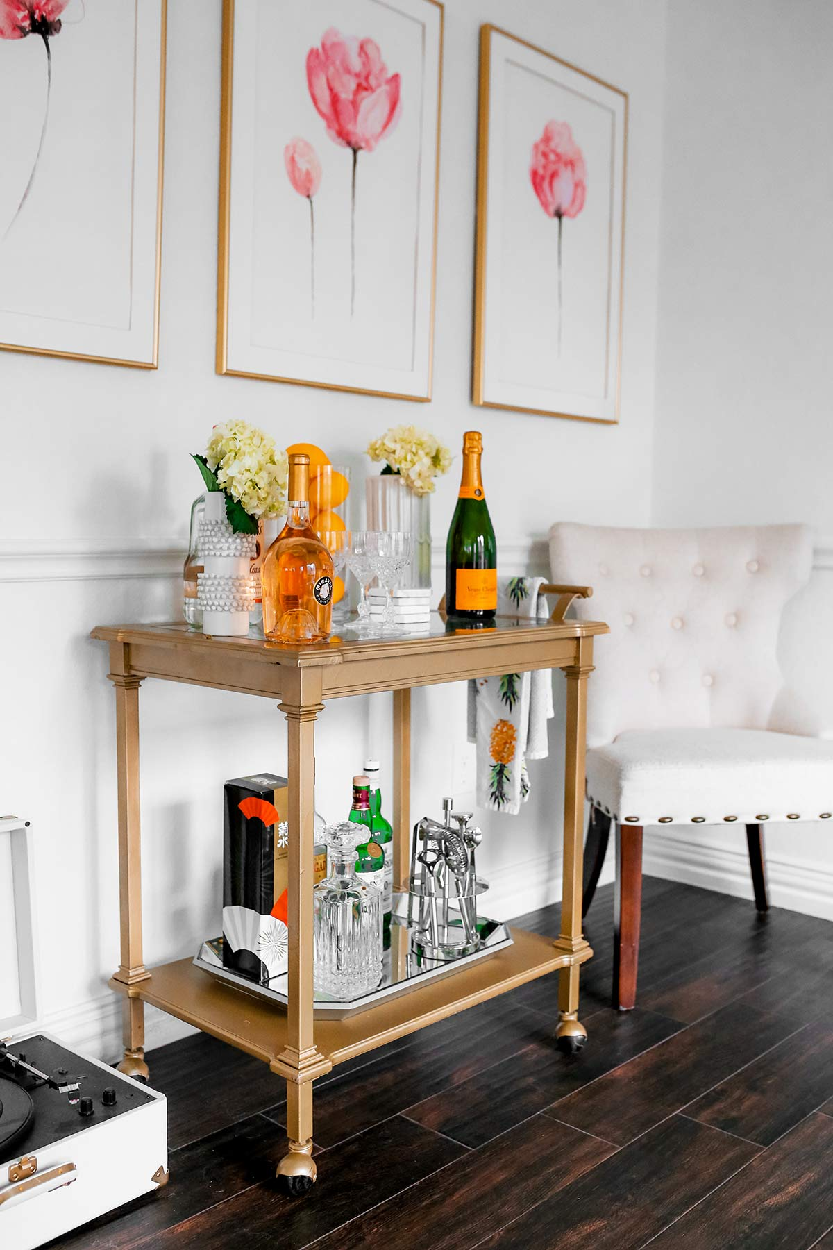 How To Style A Bar Cart For Spring Top Bar Cart Ideas And Inspiration